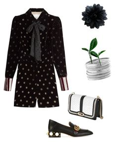 """""""Untitled #2307"""" by ayse-sedetmen ❤ liked on Polyvore featuring Maison Margiela, Gucci, Rebecca Minkoff and Avenue"""