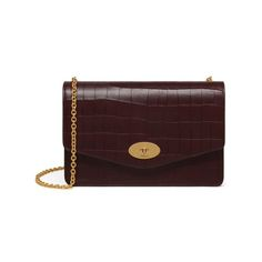2c3ce65a05 Shop the Darley in Oxblood Deep Embossed Croc Leather at Mulberry.com. A  classic