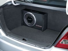 """TS-SWX251 - 10"""" Preloaded Shallow-Mount Component Subwoofer Enclosure 