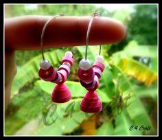 handmade paper earring
