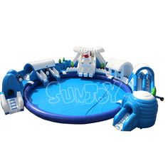 Snow and ice world inflatable water park for sale at Sunjoy Inflatables.