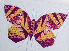 Patchwork Schmetterling - Take Wing Mini Paper Piecing Pattern