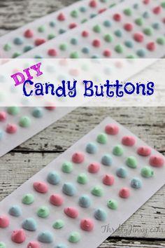 DIY Candy Buttons Recipe - Thrifty Jinxy