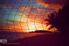 Sunset fishing net - Pinned by Mak Khalaf Landscapes beachfishing netoceanseaskysunsetislandkoh pha nganparadisethong sala beach by taisenlin1