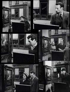 Robert Doisneau – 'Regard Oblique' Tableau de Wagner dans la vitrine de la Galerie Romi, rue de Seine, Paris 6e – 1948