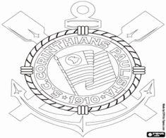 logo para colorir do corinthians - Pesquisa Google
