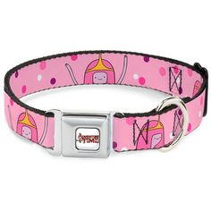 Adventure Time Animated TV Series Princess Bubblegum Seatbelt Pet Dog Cat Collar ** Check this awesome product by going to the link at the image.