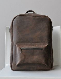 4a716e8746f7 Mens backpack leather backpack backpack purse by MoonshineLeather