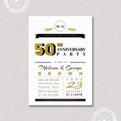 Surprise 50th Wedding Anniversary Invitation 50 by StudioBaraBom, $16.00