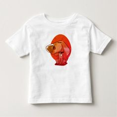 big nose funny dog cartoon toddler t-shirt - drawing sketch design graphic draw personalize