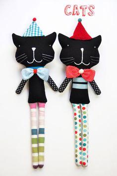 #Black #softtoy #cats by PinkNounou