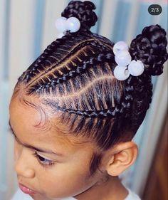 Canerow Hairstyles, Kids Cornrow Hairstyles, Black Kids Braids Hairstyles, Little Girls Natural Hairstyles, Lil Girl Hairstyles, Toddler Hairstyles, Protective Hairstyles, Quick Braid Styles, Quick Braids