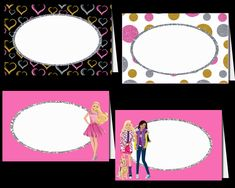 Barbie Tented Cards Party Printable Barbie Cupcakes, Tent Cards, Cupcake Wrappers, Party Printables, Creative