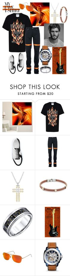 """My Man's Fave T-Shirt"" by mdfletch ❤ liked on Polyvore featuring Design Art, Moschino, SWEAR, Heron Preston, Steve Madden, Alor, Abercrombie & Fitch, Ray-Ban, FOSSIL and men's fashion"