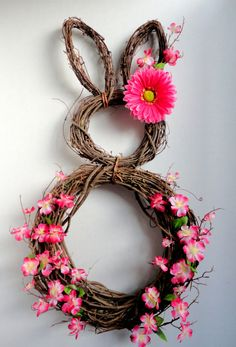 LIMITED AVAILABILITY - My Number One Seller - Easter Bunny Wreath - Spring Wreath - Summer Wreath - Easter Door Decoration