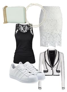 """Untitled #70"" by meganwatkins2005 on Polyvore featuring Chicwish, Dolce&Gabbana, Chico's, MANGO and adidas Originals"