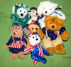 USA Teddy Bear Lot Patriotic Plush Animals RUSS Dan Dee American Greetings Toys #Assorted