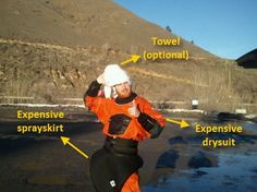 Tips on kayak gear - paddles, dry suit/wet suit