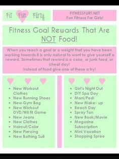 Rewards for losing weight that are NOT food... Could include Xmas magazine in December.. Bikini..pedi/mani...haircut...new clothes...iTunes music...