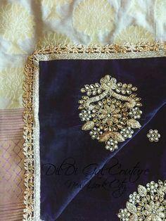 Indian Outfits, Indian Clothes, Velvet Shawl, Bridal Shawl, Punjabi Wedding, Punjabi Suits, Indian Wear, Indian Fashion, Hand Embroidery