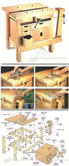 Small Workbench Plans - Workshop Solutions Plans, Tips and Tricks   WoodArchivist.com