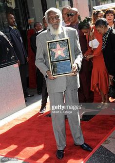 Dick Gregory Honored On The Hollywood Walk Of Fame on February 2 2015 in Hollywood California