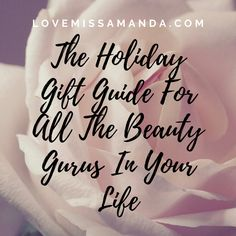 As we get closer and closer to the holidays, I wanted to make a gift guide for all the beauty and fashion gurus in your lives. Holiday Gift Guide, Holiday Gifts, Christmas Gifts, November 1st, Make A Gift, Travel Gifts, How To Plan, How To Make, First Love