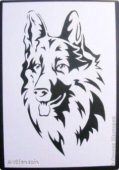 Картина, панно, рисунок Вырезание: Навырезалось... Собаки Бумага. Фото 3:
