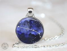 Aries Constellation Pendant Necklace | Aries Necklace Constellation Jewelry Zodiac Necklace Galaxy Necklace Space Stars Astrology Watercolor by AgeOfAkuarius on Etsy