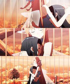 Sword Art Online~~Alfheim Online One of the sweetest parts!!! Yuikki Ausana hugging Yui T^T