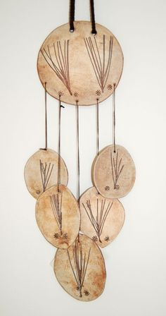 Brown Porcelain Wind Chime