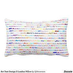 Art Text Design II Lumbar Pillow