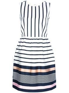 RAOUL Striped Silk Dress