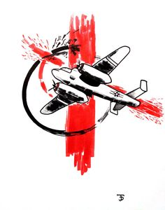 World War 2 Airplane Trash Polka Art Prints by JordanDelmonteArt