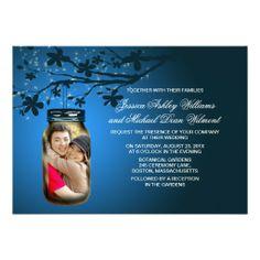 Mason Jar Evening Outdoor Wedding Invitations