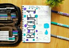 College Notes, Hand Lettering Alphabet, Bullet Journal School, Second Grade, Notebook, Closet, Maps, Sketchbook Cover, Armoire