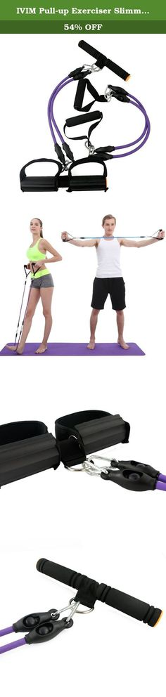 IVIM Pull-up Exerciser Slimming Body Shaper/Gut Buster/Tummy Trimmer with Breast Expander for Men and Women - Pull Exerciser Set Purple. Can be used as compact pull-up exerciser/rower action exerciser and resistance exercise bands/chest expander;. Effective and easy to use, consisting of a contoured foam handle and pedals to nicely fit into your hands and around your feet;. 3 colors available, both for men and women;. Ideal for toning & strengthening stomach, waist and legs, arms, hips...