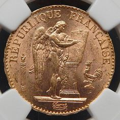 1898 A France 20 Francs Collectible Gold Coin Graded By Ngc Ms 63 – Gold Stream Boutique