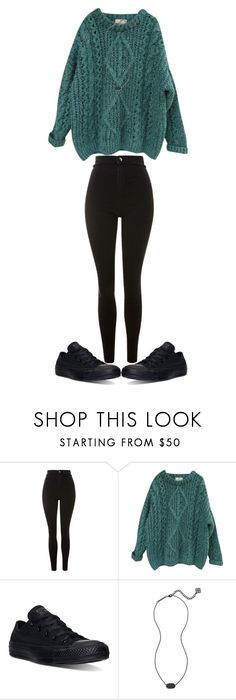 """""""Untitled #840"""" by sydthekyd01 on Polyvore featuring Topshop, Essentiel, Converse and Kendra Scott"""