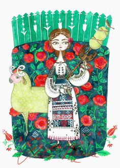 Plantus marina: same story different cultures romanian girls, traditional paintings, traditional art, Art Prints, Traditional Art, Folk Art, Illustration, Culture Art, Folk Illustration, Art, Mother Art, Ukrainian Art