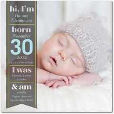 Boy Photo Birth Announcements Winning Introduction - Front : Powder Blue