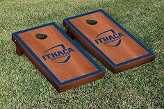 Ithaca IC Bombers Cornhole Game Set Rosewood Stained Border Version >>> More info could be found at the image url.