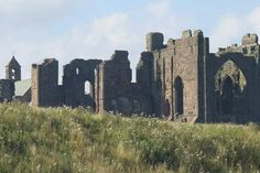 Priory ruins on Holy Island UK