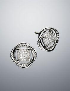 David Yurman Infinity Stud Diamond Earrings