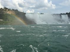 Rainbow captured on the Hornblower Cruises boat as we were headed to the edge of the falls. Niagara Falls, Ontario Toronto Canada   2015
