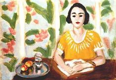 """""""Woman Reading with Peaches"""" / Henri Matisse (1869-1954)"""