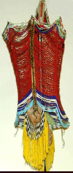 Sudan - Dinka man's beaded corset