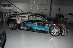 Custom vehicle wrap on a Bugatti Veyron in Las Vegas, NV www.skinzwraps.com