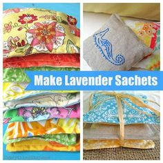 DIY Lavender Sachets...great gifts! Toss in the car, drawers, etc. You can also make smaller ones to toss in the dryer.
