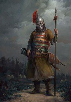 Vikings, Medieval Armor, Medieval Fantasy, Armor Concept, Concept Art, Character Portraits, Character Art, Kingdom Come Deliverance, Persian Warrior